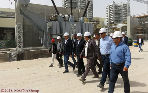 Basra Governor Visits MAPNA-Built Rumaila Power Plant