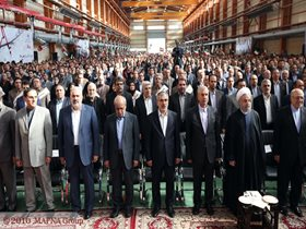 MAPNA HOSTS PRESIDENT HASSAN ROUHANI