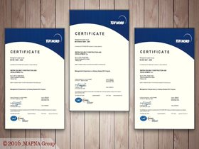 MAPNA RAILWAY SUBSIDIARY RECEIVES THREE NEW TÜV CERTIFICATES