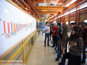 IRAQI STUDENTS VISIT MAPNA FACILITIES