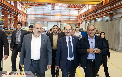 MAPNA HOSTS TUNISIAN MINISTER OF ENERGY AND MINES