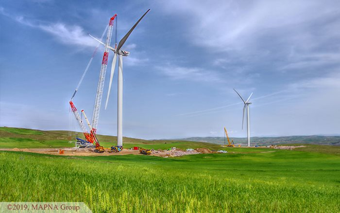 MAPNA Wind Farm Synchronized to the Grid